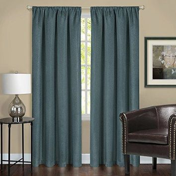 Ben&Jonah Collection Harmony Blackout Window Curtain Panel - 52x63 - Teal