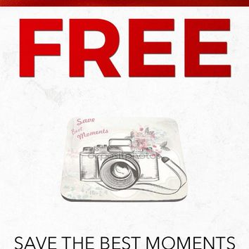 Christmas 2018 Free SC328 Save the Best Moments Floral Camera Art Computer Mousepad Gift With Purchase