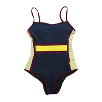 Color Block One Piece Swimsuit | STYLENANDA