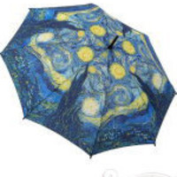 Van Gogh Starry Night Painting Umbrella - Unique Vintage - Cocktail, Evening & Pinup Dresses