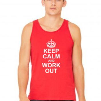keep calm and workout white Tank Top