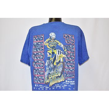 90s Broome Tioga 1995 Motocross Nationals t-shirt Large