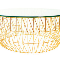 Coffee Table, Gold, Outdoor Coffee & Cocktail Tables