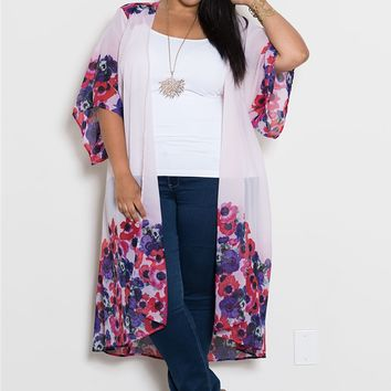 Plus Size Tops | Bianca Chiffon Duster | Swakdesigns.com