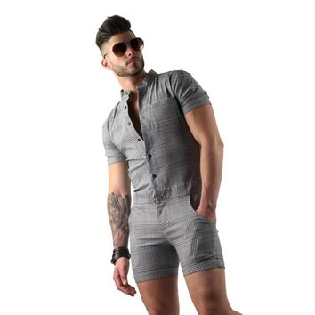 Jumpsuit Romper for men -Cute One Piece Men's Romper white Black Pink & Red.
