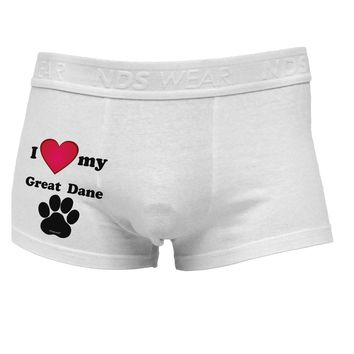 I Heart My Great Dane Side Printed Mens Trunk Underwear by TooLoud