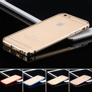 For Apple iPhone 6 6S Ultra Slim Aluminum Metal Frame Case For iPhone 6 4.7 6S Bumper Accessories Multi Color Shock Proof Cover