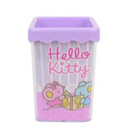 Hello Kitty Creative Square Pen Holder Lovely Pen Cup KT9404 (Purple)