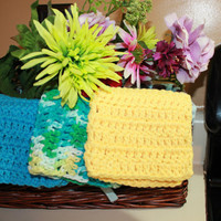 Sunny Day Dish Clothes by CraftyChickCrochet1 on Etsy
