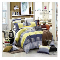 Bed Quilt Duvet Sheet Cover 4PC Set Upscale Cotton 100% 032