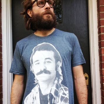 Men's/Unisex Young Bill Murray Mustache Graphic Tee by TrulySanctuary T-Shirt Shirt Tshirt