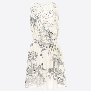 Valentino Printed Crêpe De Chine Dress, Dresses for Women - Valentino Online Boutique
