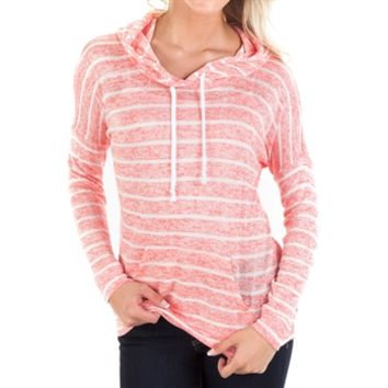 Chance or Fate Juniors Striped Hooded Top at Von Maur