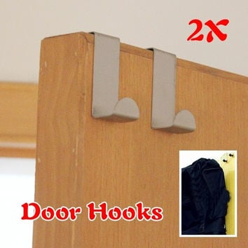 Intelligent Home Furnishing 2Pcs For Kitchen Hanging Hanger Holder Door Hooks Hanging Coat Cloth Strong W = 1930441412
