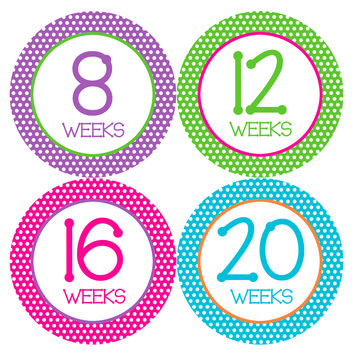 Pregnancy Baby Bump Week Stickers Style #903
