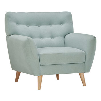 HomeBelle Blue Tufted Armchair | zulily