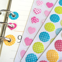 Ring hole sticker File Punched holes reinforcement label polka dots donut hole sticker album file sticker hang tag reinforcer planner gift