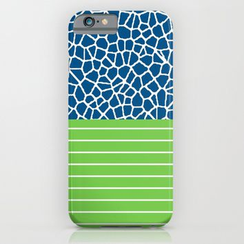 staklo (blue with green) iPhone & iPod Case by Trebam | Society6