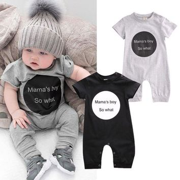 Infant Baby Kids Short Sleeve Bodysuit Girls Boys Romper Jumpsuit Outfits 0-24M