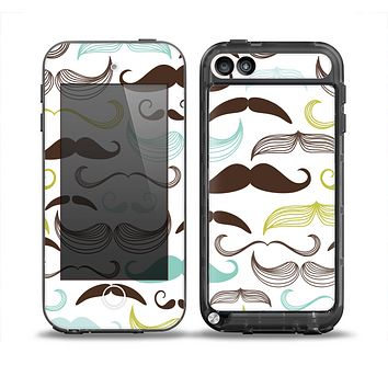 The Fashion Mustache Variety On White Skin for the iPod Touch 5th Generation frē LifeProof Case