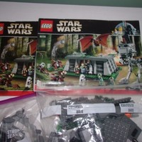 Lego 8038 Star Wars The Battle of Endor Used Loose With Manuals No figures