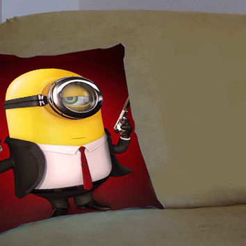 Despicable Me Minion Hitman Barittata - Pillow Case, Pillow Cover, Custom Pillow Case **
