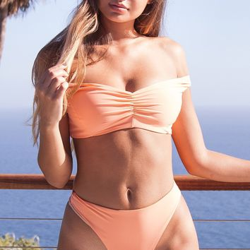 Perfect Peach Pool Partee Bikini Bottom - Bellini