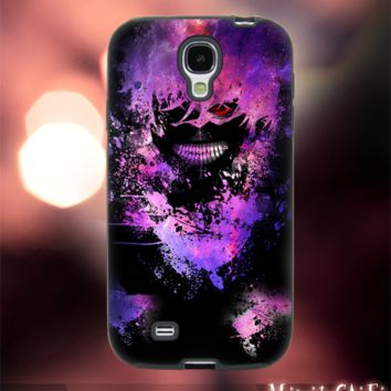 MC249Y,17,Cartoon,,ebula,Galaxy,Tokyo Ghoul-Accessories case cellphone- Design for Samsung Galaxy S5 - Black case - Material Soft Rubber