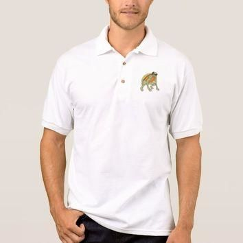 Kappa Monster Crouching Drawing Polo Shirt