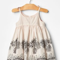 Gap Baby Floral Border Dress