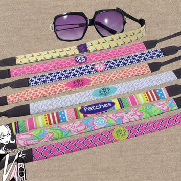 Sunglass Strap Personalized Croaky with Monogram Sunglasses Strap Personalized Sunglass Holder Croaky Bridesmaid Gift Birthday Gift