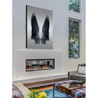 ParvezTaj Black Wings Painting Print on Brushed Aluminum