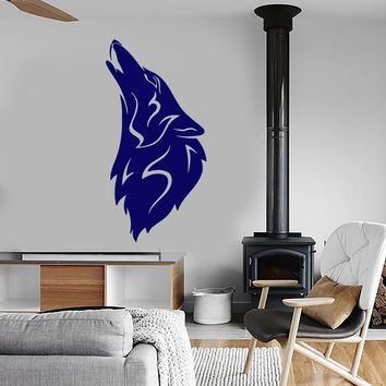Wall Stickers Vinyl Decal Moon Wolf Howl Animal Werewolf Unique Gift (ig259)