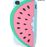 Aeropostale Womens Watermelon iPhone Case - Pink/Red,
