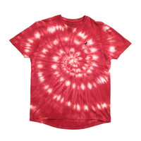 Staple Grails Tie Dye Tee In Red