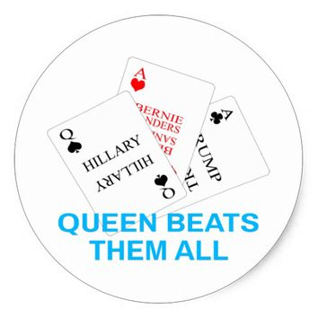 Hillary - Queen Beats Them All Classic Round Sticker