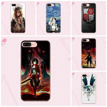 Cool Attack on Titan  Logo Vertical Phone Case For Moto G G2 G3 For HTC Desire 530 626 628 630 816 820 One A9 M7 M8 M9 M10 E9 Plus U11 AT_90_11