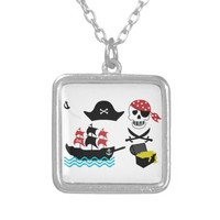 Pirates Square Pendant Necklace