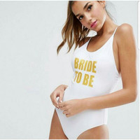 Bride To Be One Piece Swimsuit