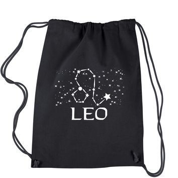 Leo Zodiac Star Chart  Drawstring Backpack