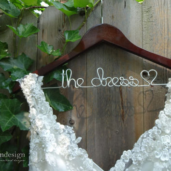 SALE Wedding Dress Hanger, Bride Hanger, Wedding Hanger, Last Name Hanger, Mrs Hanger, Bridal Hanger, Personalized Hanger, Gift