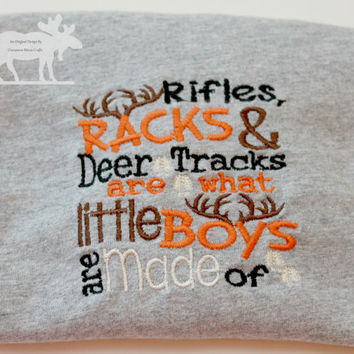 Boys Are Made Of T-Shirt / Hunting Shirt / Boy Outfit / Deer Shirt / Toddler Shirt / Personalized Shirt / Boy Embroidery / Custom Shirt