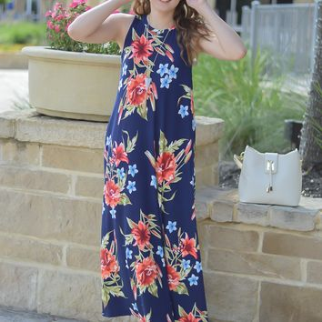So Amazingly Beautiful Maxi Floral Dress