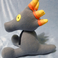 Homestuck inspired Troll colored themed original Scalemate dragon plush (30 cm high) made of fleece