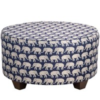 John Robshaw Textiles - Parsa Ottoman in Rambagh Indigo - Furniture - Furniture