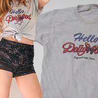 Vintage 1980s Dollywood Tee | Thin Faded Dolly Parton Tshirt | Screen Stars 50/50 Soft Hipster Graphic Tee | Country Music Retro Band Tee