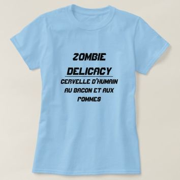 Zombie Delicacy Human brain with bacon and apples T-Shirt