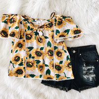 Sunflower Off The Shoulder Top