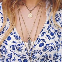 Boho Love 3 Layer Charms Necklace