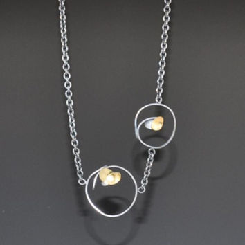 Two Circle Necklace